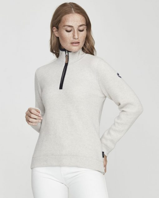 Holebrook Agnes T-neck WP Light Grey Melange