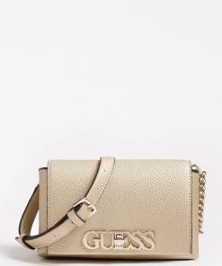Guess Uptown Chic Mini Xbody Bag Gold