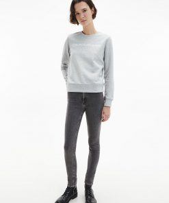 Calvin Klein Institutional Logo Sweatshirt Light Grey Heather