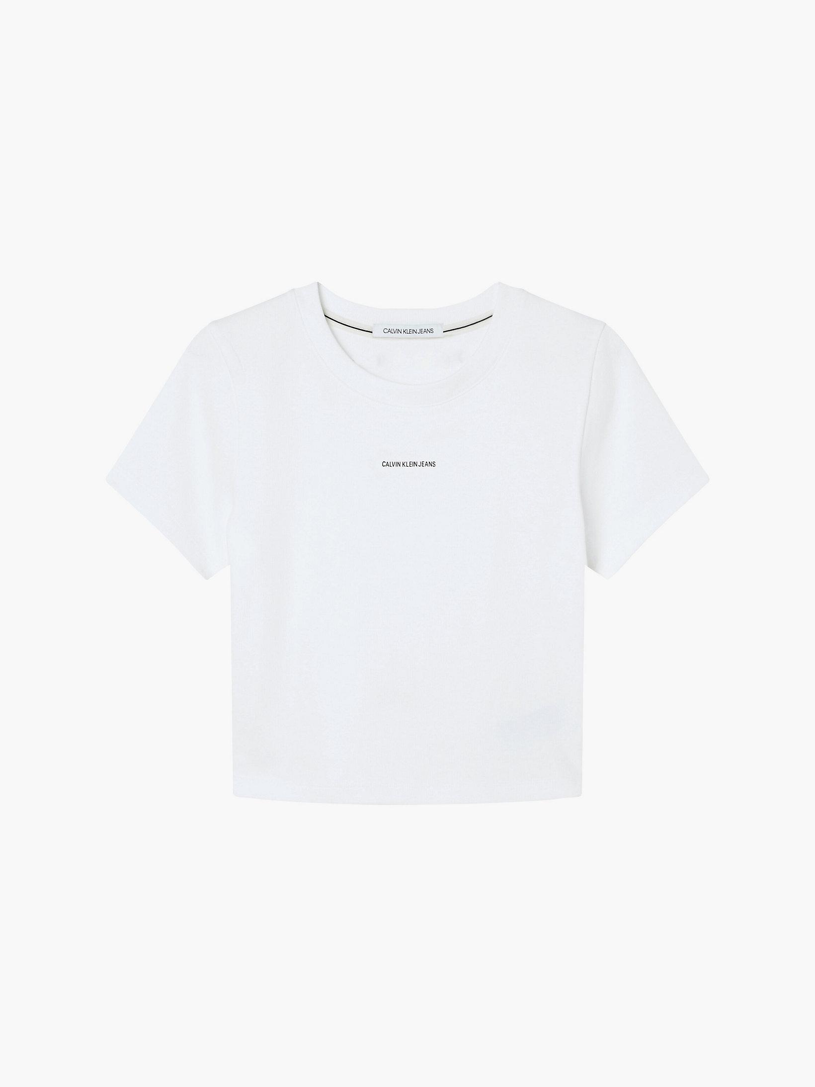 Calvin Klein Organic Cotton Cropped T-shirt White