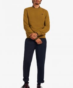 Fred Perry Crew Neck Sweatshirt Caramel