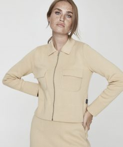 Holebrook Barbro Zip Jacket Almond