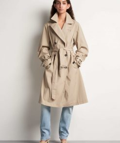 Tiger of Sweden Zparre Trench Coat Moon Stone