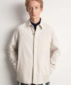 Tiger of Sweden Siskin Shirt Jacket Ivory Sand