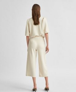Selected Femme Tenny Wide Cropped Pants Birch