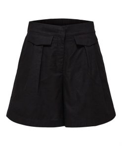 Selected Femme Cecilie Shorts Black