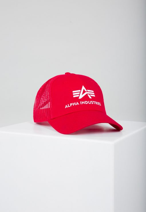 Alpha Industries Basic Trucker Cap Speed Red