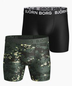 Björn Borg Per Digital Woodland Shorts 2-Pack Duck Green