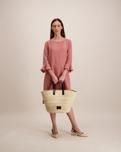 Balmuir Beatrice Straw Shopper Black