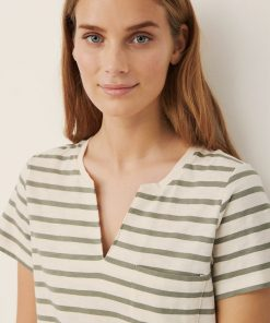 Part Two Gesina T-shirt Stripe/Vetiver