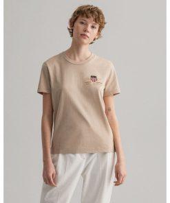 Gant Woman Archive Shield T-shirt Dry Sand