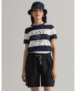 Gant Woman Nautical T-shirt Evening Blue