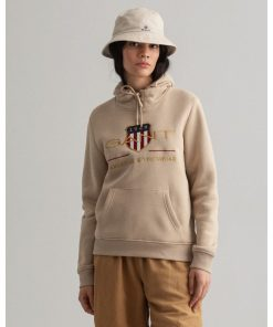 Gant Woman Archive Shield Hoodie Dry Sand