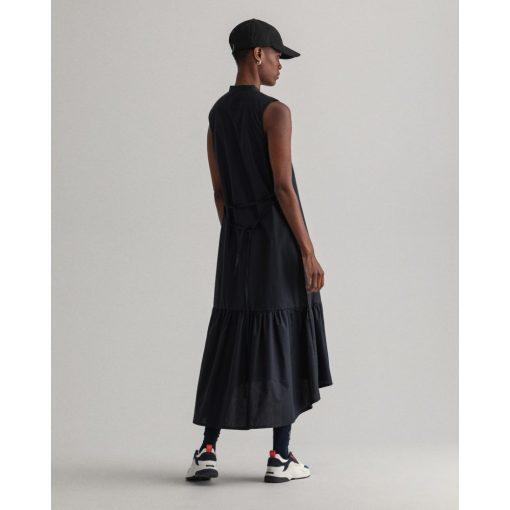 Gant Woman Polin Midi Dress Black