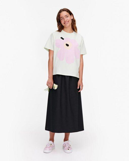 Marimekko Vaikutus Unikko T-shirt Light Green