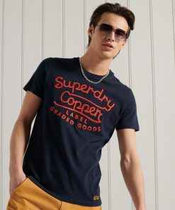 Superdry Workwear Graphic T-shirt Nautical Navy