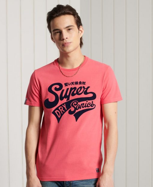 Superdry Collegiate Graphic T-shirt Future Fuchsia