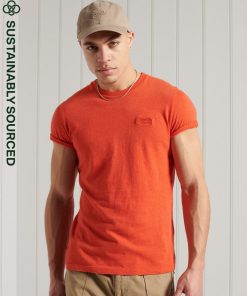 Superdry Vintage Embroidery T-shirt Bright Orange Marl