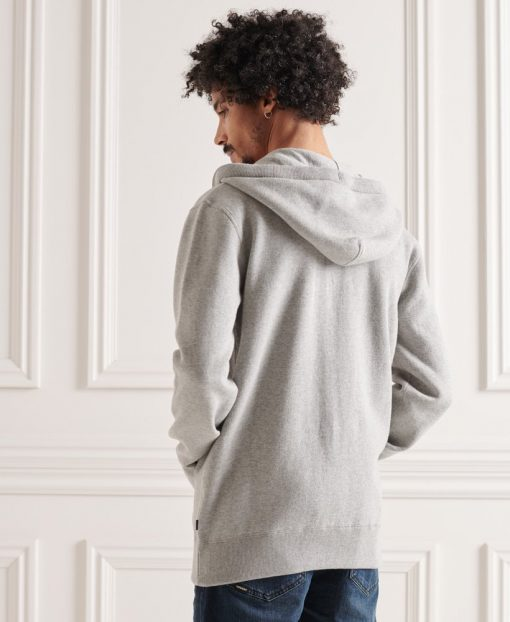 Superdry Essential Cotton Hood Mid Grey