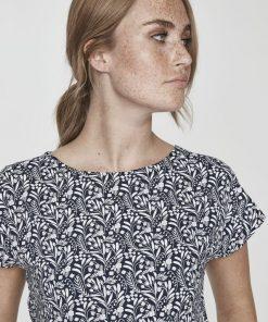 Holebrook Kajsa Capsleeve T-shirt Navy/Meadow
