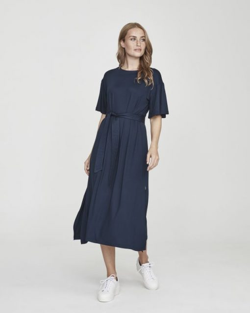 Holebrook Kajsa Slit Dress Navy