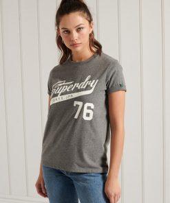 Superdry Collegiate Cali State T-Shirt Dark Marl