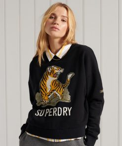 Superdry Military Narrative Sweatshirt Black