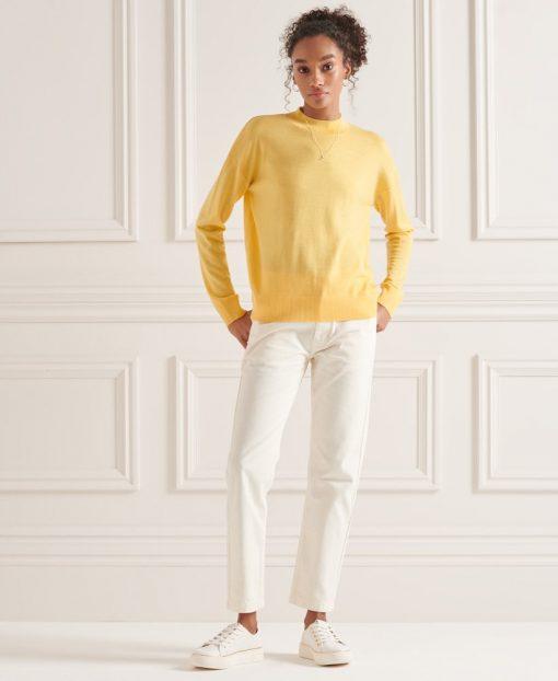 Superdry Merino Mock Neck Jumper Pigment Yellow