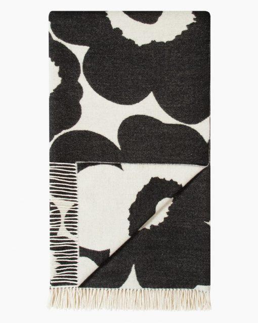 Marimekko Unikko Blankett 130 x 180 cm Black/White