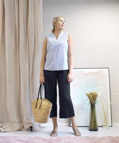 STI Elysie Linen Pants Black