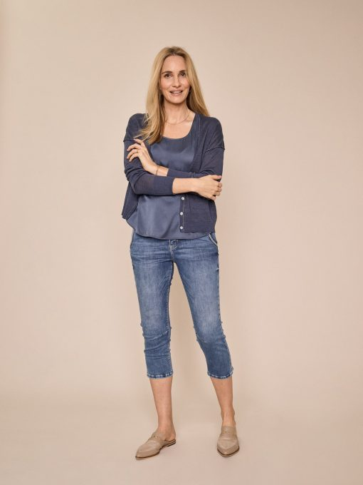 Mos Mosh Etta Novel Jeans Blue