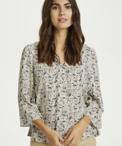 Part Two Knox Blouse Neutral Botanical Print