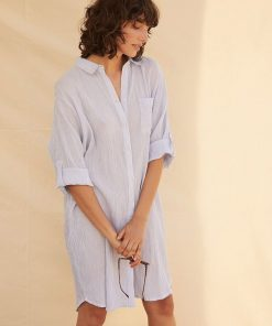 Part Two Isidora Dress Brunnera Blue Stripe