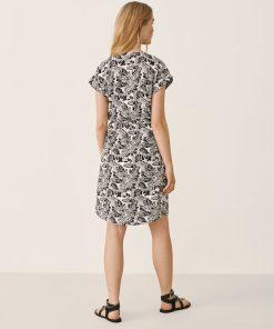 Part Two Ilima Dress Black Block Print