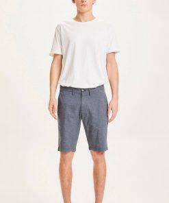 Knowledge Cotton Apparel Chuck Pattern Shorts Blue