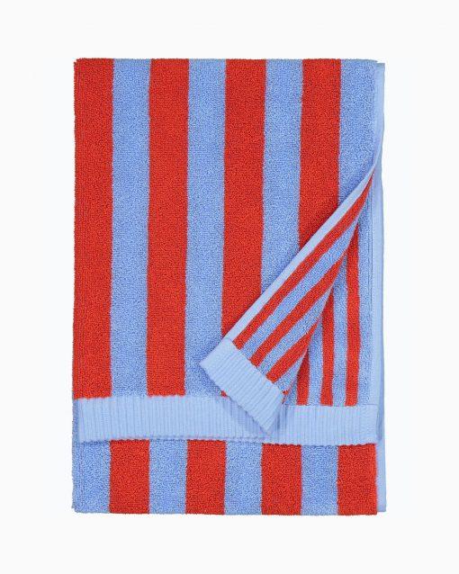 Marimekko Kaksi Raitaa bath towel 70 x 150 cm Blue