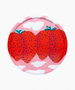 Marimekko Mansikkavuoret Tray Red 46 cm