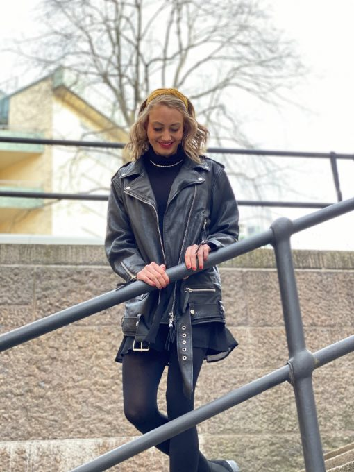 Human Scales Unisex Emelie Leather Jacket Black