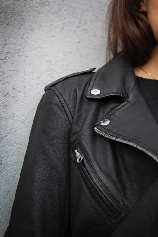 Human Scales Eva Leather Jacket Black
