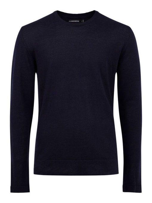J.Lindeberg Newman Linen Merino Sweater Navy