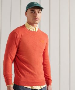 Superdry Orange Label Crew Jumper Bright Orange Marl