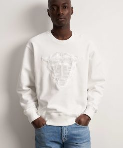 Tiger Jeans Zoab Emb Sweatshirt White Stone