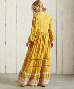 Superdry Ameera Maxi Dress Ochre