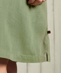 Superdry Tencel T-Shirt Dress Four Leaf Clover
