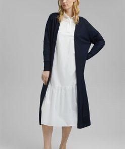 Esprit Linen Blend Cardigan Navy