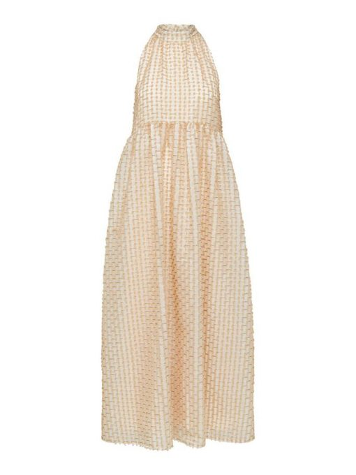 Selected Femme Dosky Maxi Dress Natural White