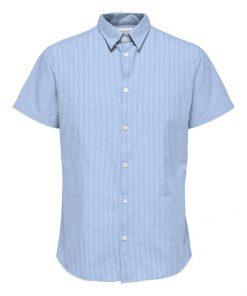 Selected Homme Classic Linen Shirt Blue