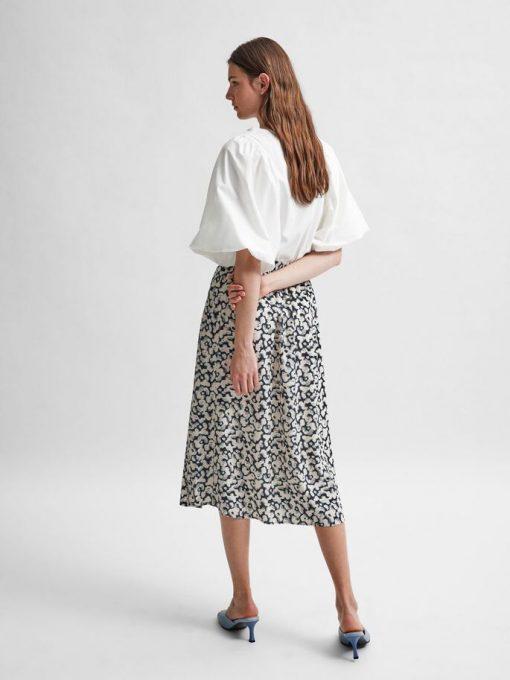 Selected Femme Paulina Midi Skirt Black