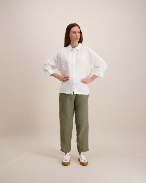 Balmuir Lila Linen Shirt White