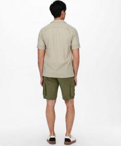 Only & Sons Steve Seersucker Shirt Pelican